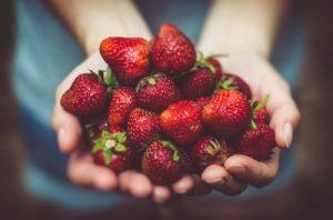 Agradecimiento con fresas