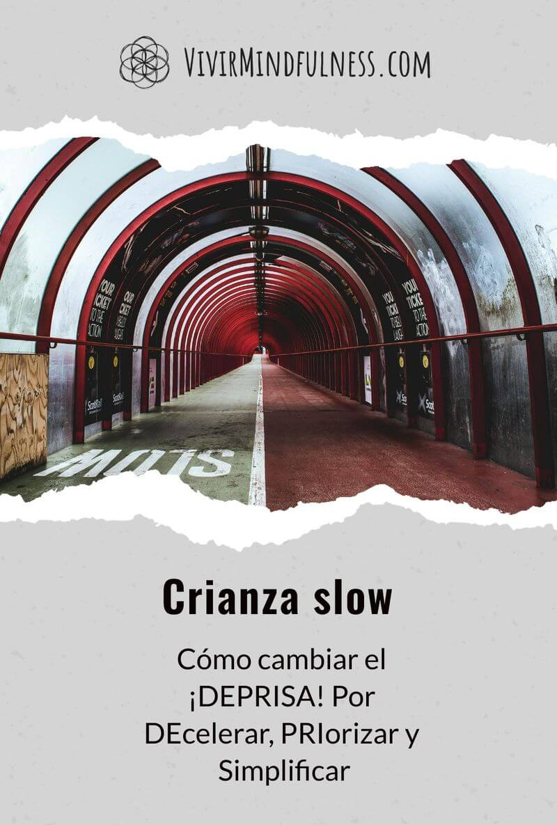 Portada: Túnel. Slow Parenting